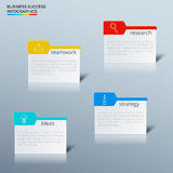 Successful business concept infographic template. Infographics with icons and elements Stock Photos
