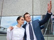 Successful business couple Stock Photos
