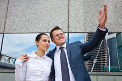 Successful business couple Stock Image