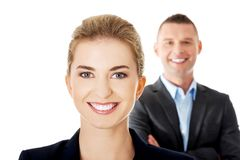 Successful business couple Royalty Free Stock Photos