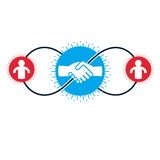 Successful Business creative logo, handshake agreement sign, vec Stock Photography