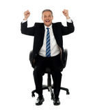 Successful business gesturing happiness Stock Photography