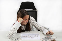 Successful business girl Stock Images