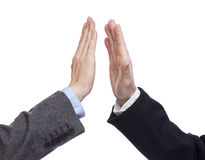 Successful business giving high five Stock Image