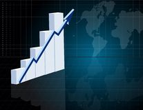Successful Business Graph Royalty Free Stock Images