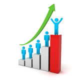 Successful business graph concept Stock Images