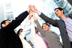 Successful business group Stock Images