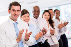 Successful business group applauding Stock Photography