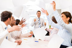 Successful business group Stock Image