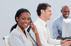 Successful business group at work Stock Image