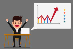 Successful business growth chart. Royalty Free Stock Photos