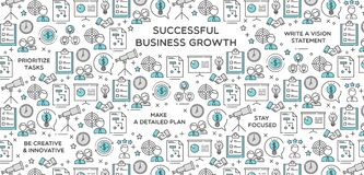 Successful Business Growth Vector Illustration. Perfect for use in website design, presentations, infographics etc Royalty Free Stock Images