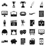 Successful business icons set, simple style. Successful business icons set. Simple set of 25 successful business vector icons for web isolated on white Stock Image