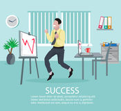 Successful Business Idea Poster Royalty Free Stock Photos