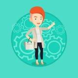 Successful business idea vector illustration. Stock Photos