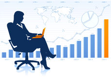 Successful business lady in chair Stock Photo