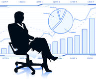 Successful business lady in chair Stock Images