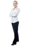Successful business lady posing confidently Stock Photo