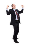 Successful business man cheering Stock Photography