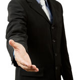 Successful business man, gesturing handshake Stock Images