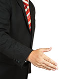 Successful business man, gesturing handshake Stock Photos
