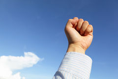 Successful business man hand fist gesture Royalty Free Stock Image