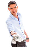 Successful business man with money Stock Image