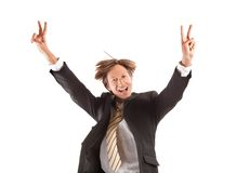 Successful business man jump Royalty Free Stock Photography