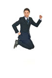 Successful business man jumping Stock Photography