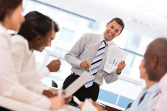Successful business man in a meeting Stock Photo