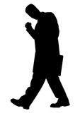 Successful business man silhouette Stock Photos