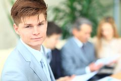 Successful business man standing Royalty Free Stock Photo