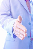 Are you ready to deal. A successful business man stretches out his hand to shake hands,photography Stock Photography