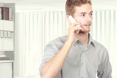 Successful business man talking on the phone Stock Photography