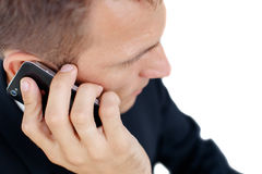 Successful business man talking on phone  Stock Photo