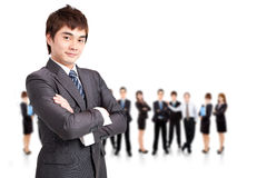 Successful  business man and team Royalty Free Stock Photography