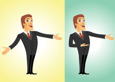 Successful business man welcoming you. Illustration of smiling successful business man welcoming you royalty free illustration