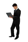 Successful business man working with laptop Royalty Free Stock Photos