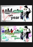 Successful business in the new year. (Vector) 1 Stock Photos
