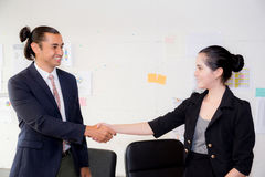successful business partner shaking hands after with meeting. Stock Photos