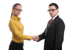 Successful business partners handshaking Royalty Free Stock Images