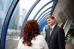 Successful business partners at a meeting Stock Images