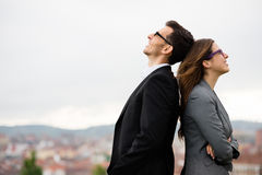 Successful business partners outside Royalty Free Stock Photo