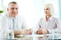 Successful business partners Stock Images