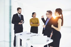 Successful business partners in work Stock Photography