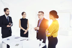 Successful business partners in work Royalty Free Stock Images