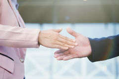 Successful business peolple handshaking after good deal. Stock Images
