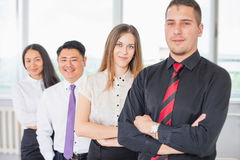 Successful business people or businessteam at white background Royalty Free Stock Photos