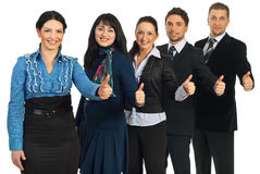 Successful business people gives thumbs Stock Image