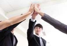 Successful business people group celebrating Royalty Free Stock Photo